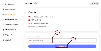 adbtcs add your website