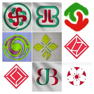 Coret-coret sketsa logo BJB