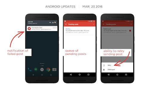 Google+ for Android v7.5: Re-sending of Failed Posts, More Squashed Bugs