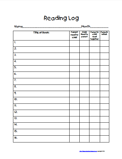 4th grade reading log template - reading log sheets with summary 5th grade new calendar