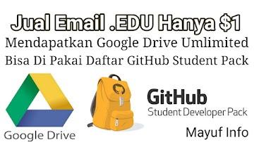 Jual Email .EDU Gratis Google Drive Unlimited Dan Domain .ME Hanya $1