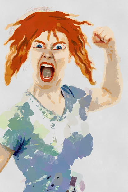 Angry Women Clip Art