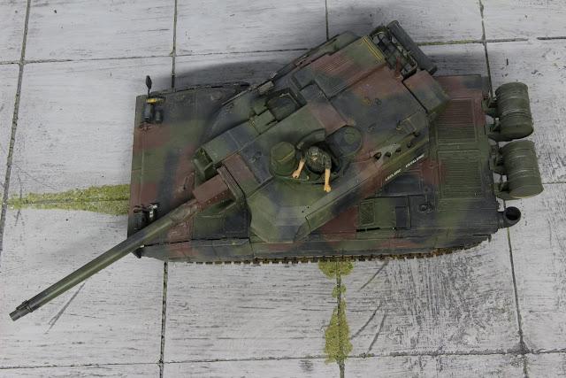 maquette du char Leclerc de Tamiya au 1/35.