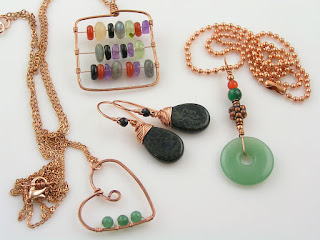 Copper Jewelry, Abacus Necklace