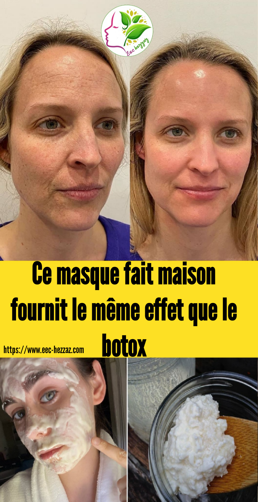 Ce masque fait maison fournit le même effet que le botox