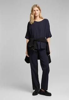 Esprit - Дамски Блуза с паднали ръкави