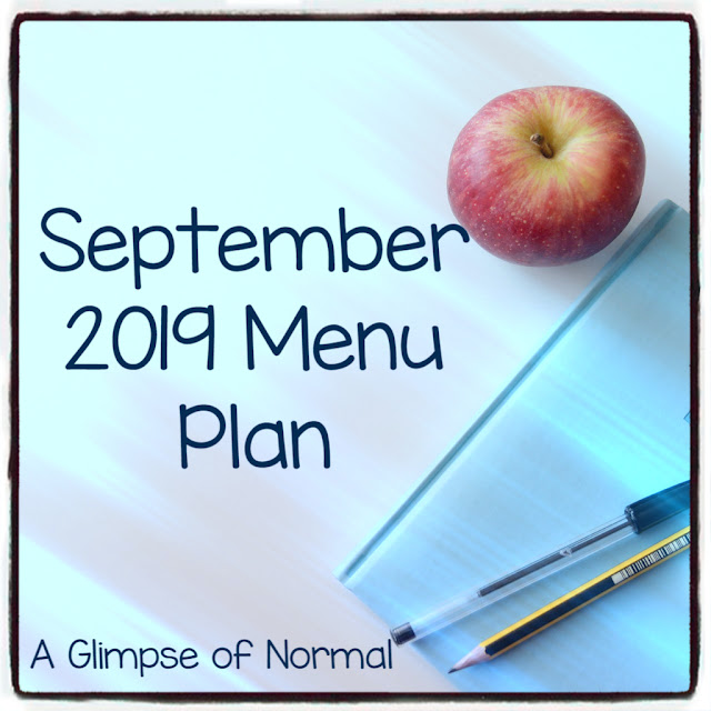 Come and see what is for dinner this month at A Glimpse of Normal