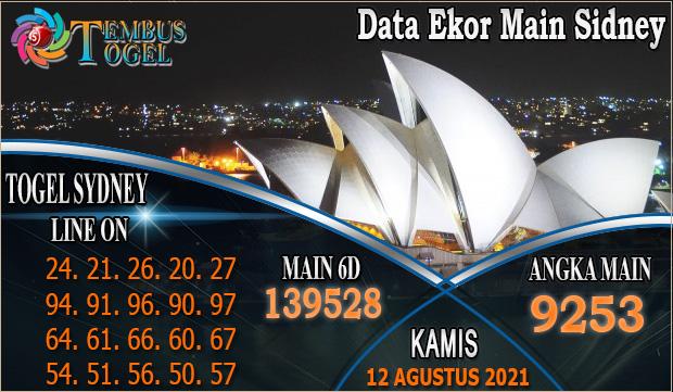 Data Ekor Main Sidney - Kamis 12 Agustus 2021