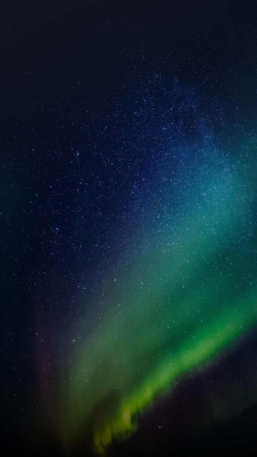 Starry night with aurora