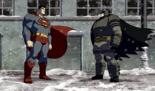 En la animación Batman y Superman se han enfrentado