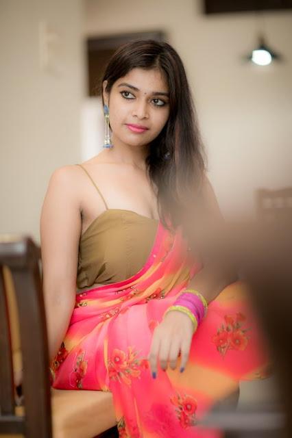 Dharsha Gupta New Saree Photos