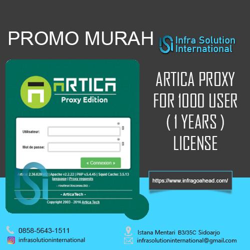 Order Promo Artica Proxy 1000 User