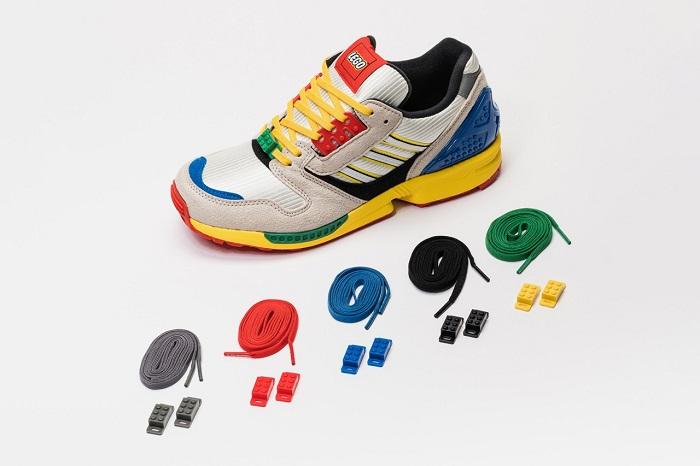LEGO Adidas Shoes ZX 8000 5 Different Colour Laces