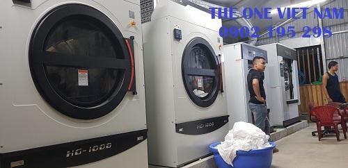 Nghiệm thu dây chuyền giặt là cho xưởng giặt tại Đà Nẵng