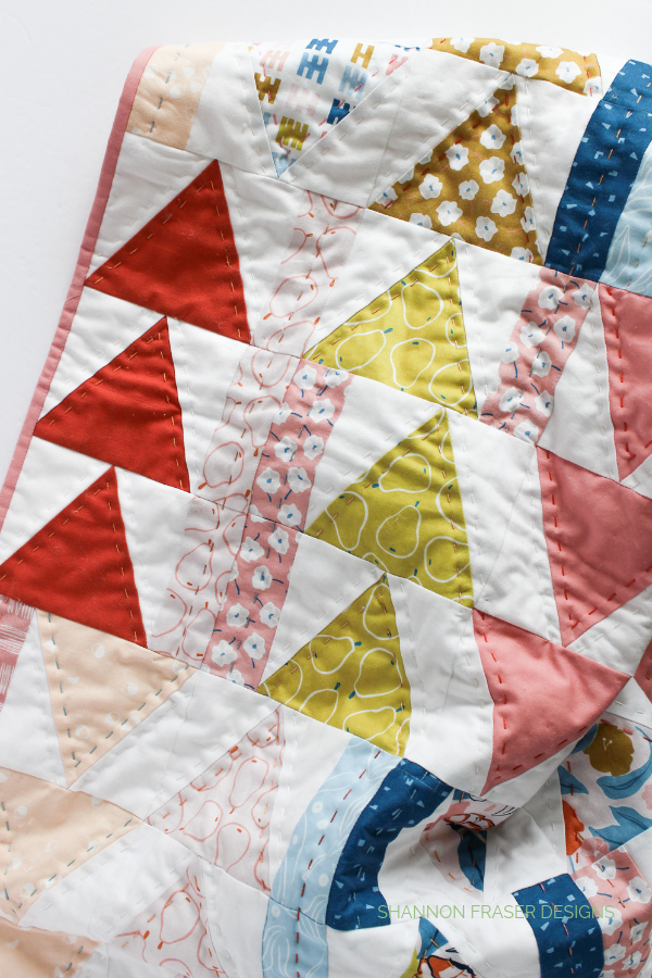 Rollakan Flight Plan Quilt | Q3 Finish-a-Long 2019 | Shannon Fraser Designs #babyquilt #trianglequilt