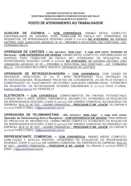 VAGAS DE EMPREGO DO PAT BARRETOS PARA 05-11-2020 PUBLICADAS DE MANHÃ - Pag. 10