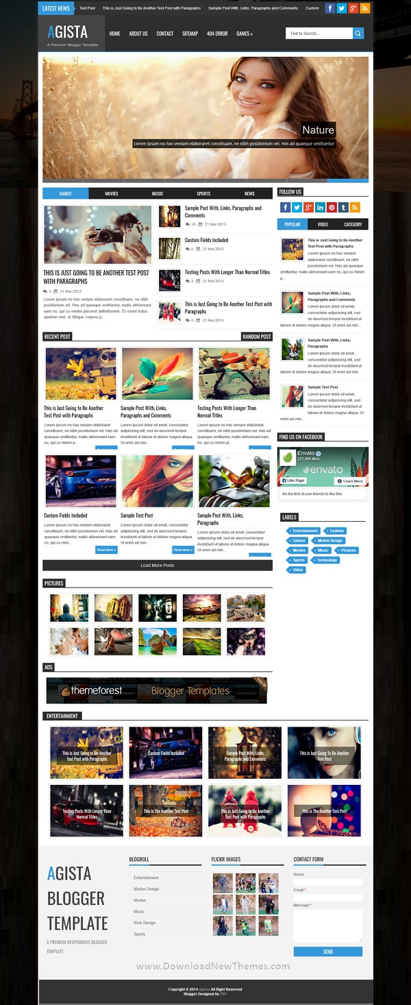 Responsive Multipurpose Blogger Template