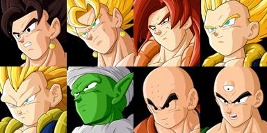 Graficos faciais Dragon Ball 1F1