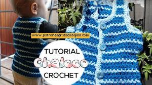 Cómo tejer chaleco a crochet para bebé de 12 meses | Tutorial