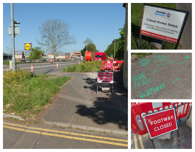 Roadworks, signage and evidence of more to come