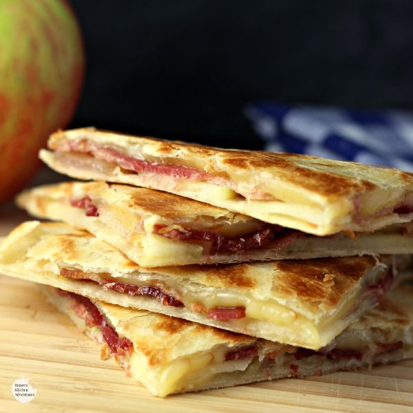 Smoked Gouda, Apple and Bacon Quesadillas