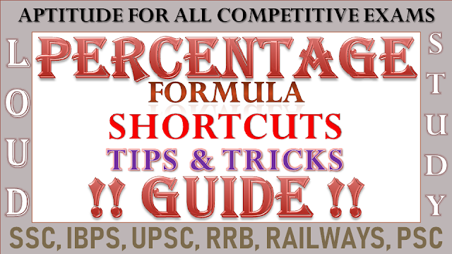 Percentage : Formula, Shortcut, Tips and Tricks to Solve Problems