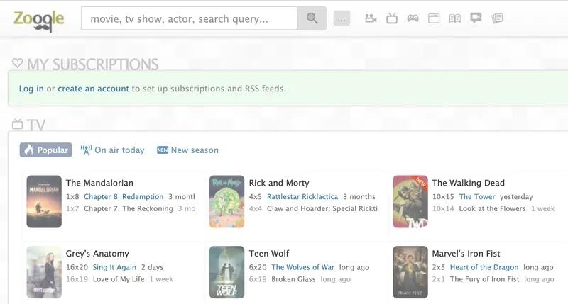 Zooqle motore ricerca torrent in stile google