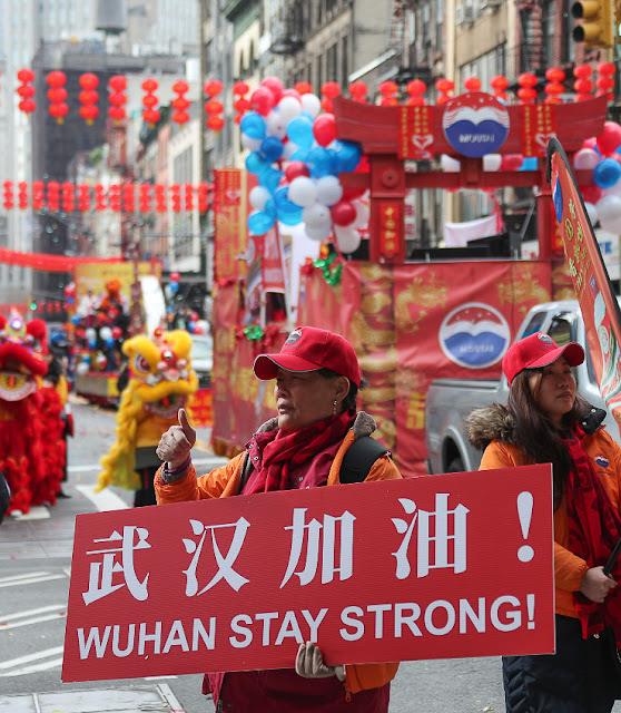 Chinese Lunar New Year is celebrated in Manhattan's Chinatown