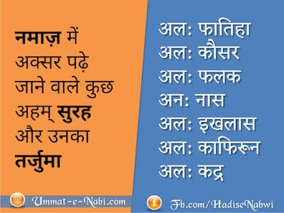 Namaz ki Surah in hindi   नमाज़ की सूरह हिंदी में