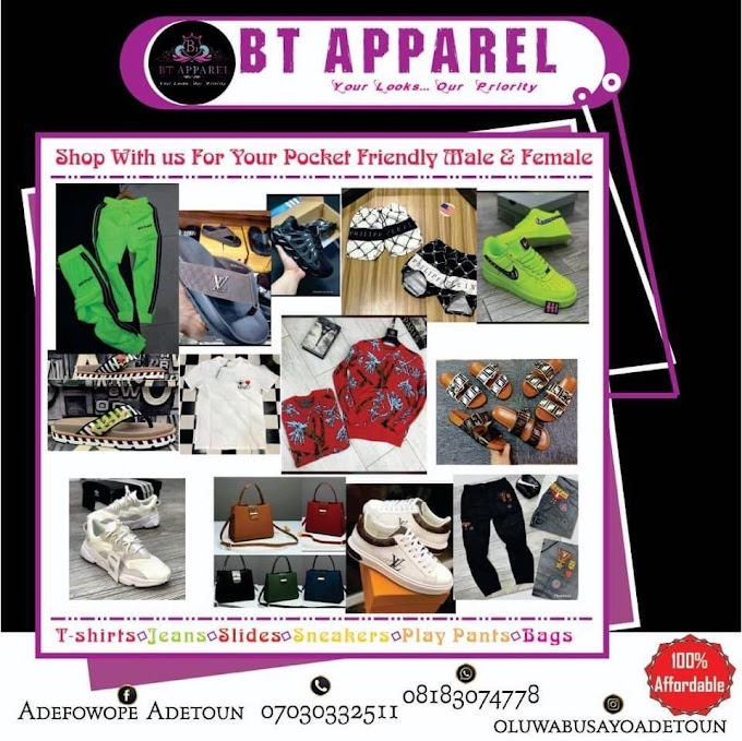 shop with us for your pocket friendly male & female wears.