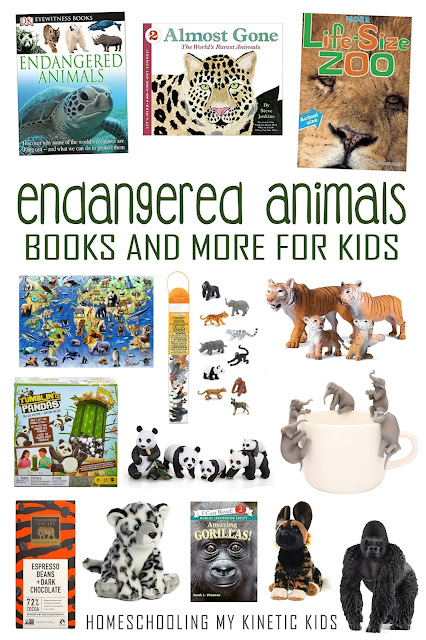 Learn more about endangered animal species with these great books and toys for kids