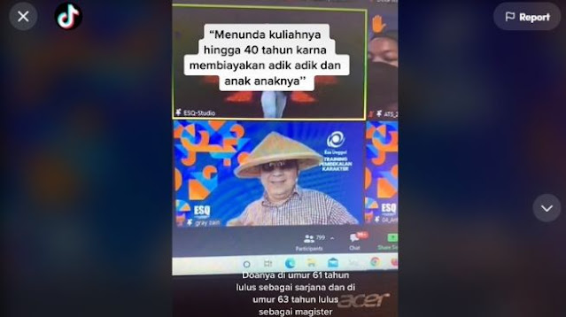 Viral Lelaki Berusia 58 Tahun Ikut Ospek, Ada Kisah Inspiratif di Baliknya