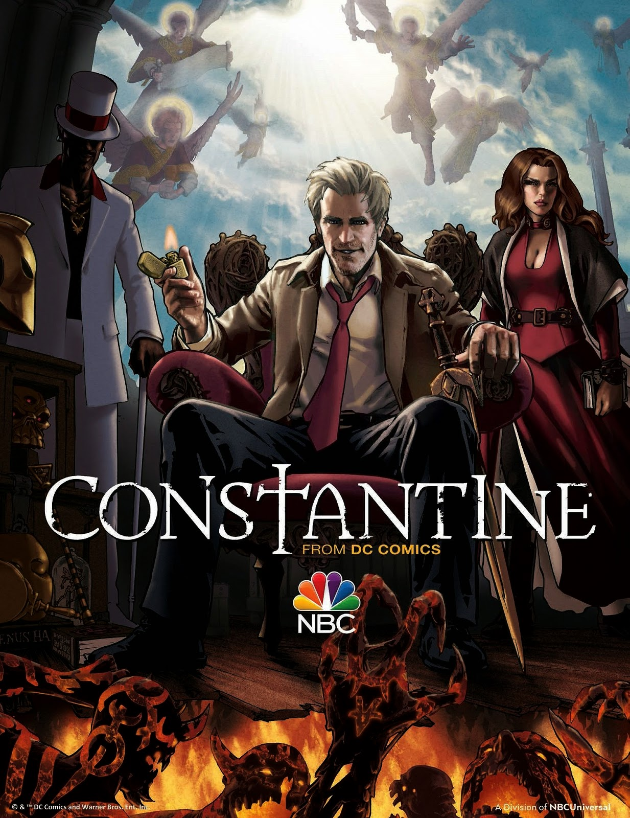 Constantine Illustrated Television Poster by Gene Ha