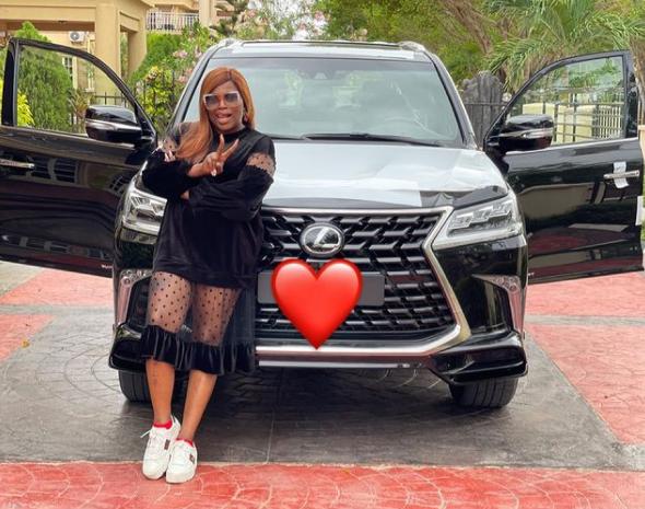 GX GOSSIP: Nigerian Actress, Funke Akindele Bello acquires Lexus SUV (See photo/video)