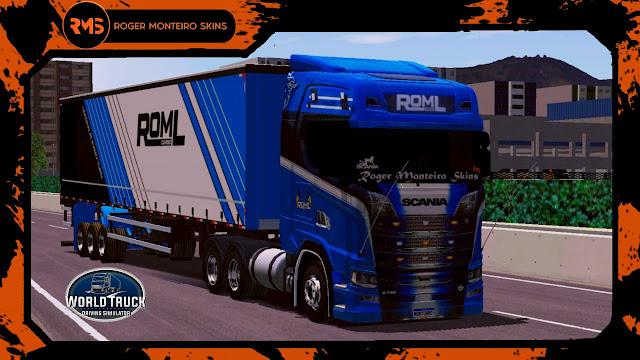 Skins World Truck, Wtds, Skins Scania S, Roml Cargo, Scania S