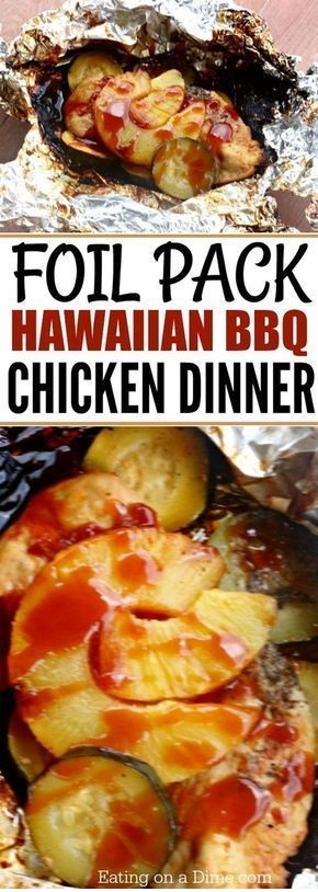 Foil Packet Hawaiian BBQ Chicken Recipe