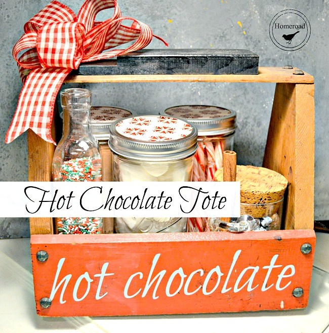 DIY Hot Chocolate Tote for Holiday Gift Giving