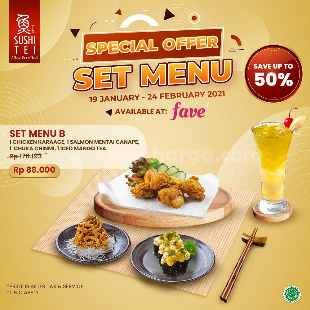 SUSHI TEI Promo Special Offer SET MENU! Save up to 50%