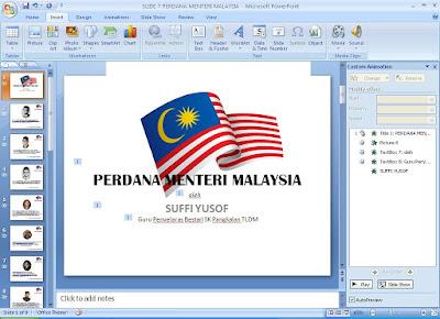 Slide Powerpoint 7 perdana menteri Malaysia