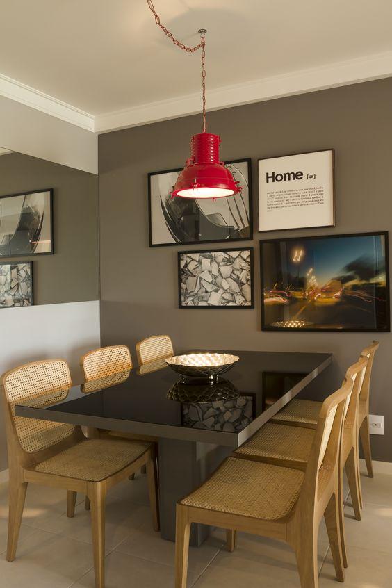 Mesa Em Parede ~ Decoraç u00e3o 15 Salas de jantar pequenas com mesas encostadas Jeito de Casa Blog de Decoraç u00e3o