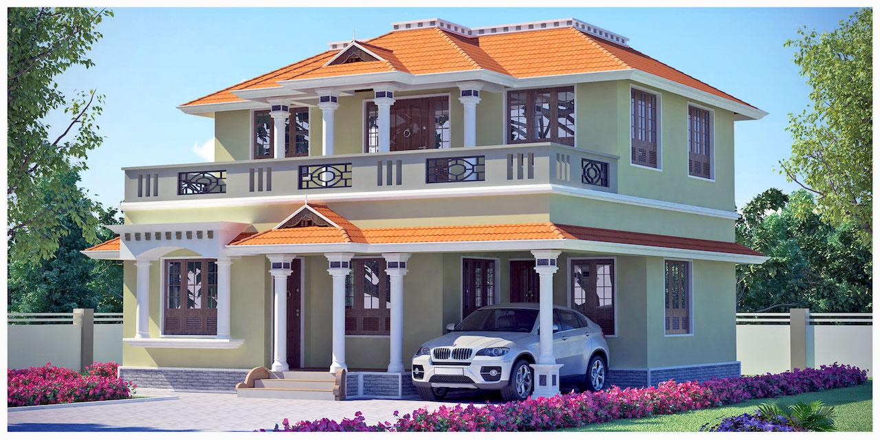 1639 sq ft Traditional Kodungallur style House design idea