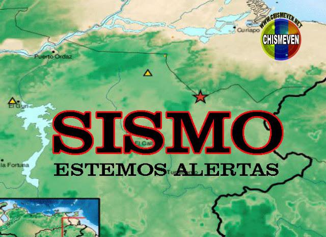 Sismo de 3.9 grados es sentido con fuerza en Guasipati -  Estado Bolívar