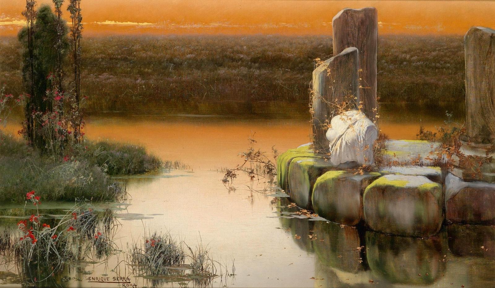 Enrique  Serra  y  Auque  In  the  Pontine  marshes