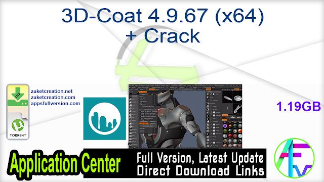 3D-Coat 4.9.67 (x64) + Crack