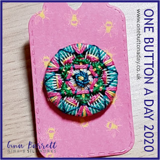 Day 272 : Mandala VI - One Button a Day 2020 by Gina Barrett