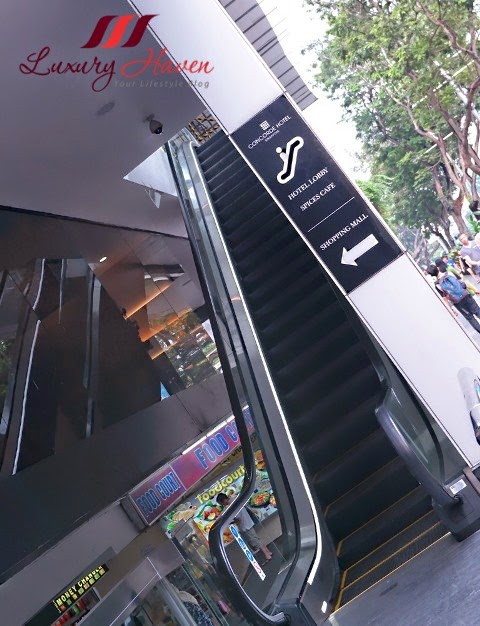 singapore concorde hotel orchard road escalators