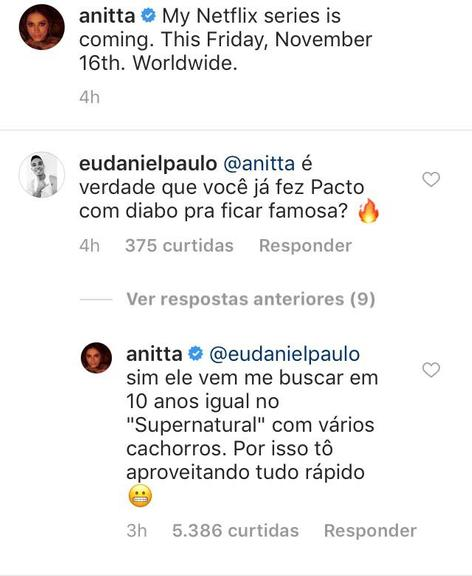 Anitta revela que fez pacto