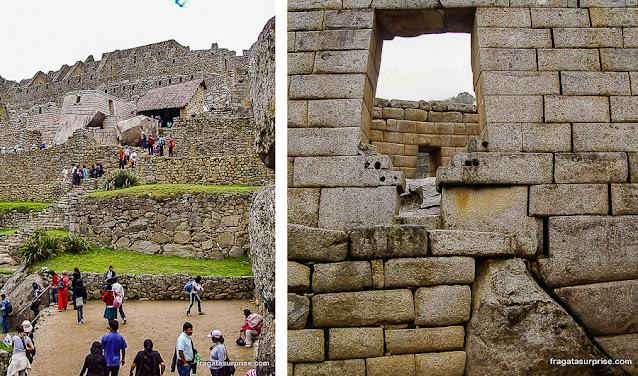 Paredes em pedra polida, Machu Picchu, Peru