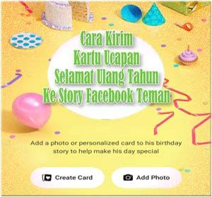 Kirim Kartu Ucapan Selamat Ulang Tahun Ke Story Facebook Teman