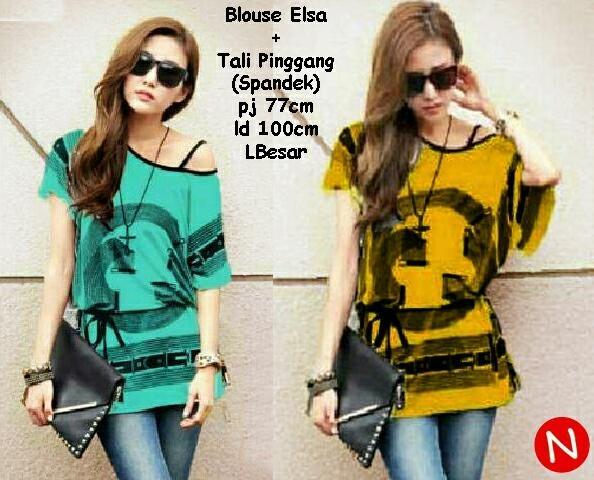 Jual Blouse Blouse Elsa Body Panjang - 12661